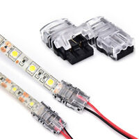 1 pin led strip to wire connector 8mm/10mm tape light connector conductor YFLh