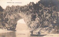 CPA ARDECHE GORGES DE L'ARDECHE le pont d'arc
