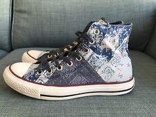 Converse Blue Bandana Ladies High Tops Size 6.5
