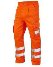 "10 x Leo Hi Vis Orange Rail 32"" Cargo trousers EN471 Class 1 joblot bundle C"