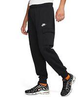 Nike Men's Club Fleece Cargo Joggers Sweatpants, Black, Size L, NwT