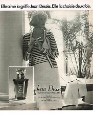 PUBLICITE  1977   JEAN DESSES   parfum haute couture