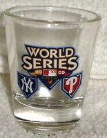 2009 WORLD SERIES SHOT GLASS PHILADELPHIA PHILLIES vs NY YANKEES