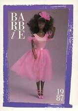 """Barbie Collectible Fashion Trading Card """" Black My First Barbie """" Ballerina 1987"""