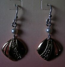 Jody Coyote Earrings JC0201 New hypoallergenic silver gold white bead made USA