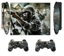COD 019 Skin Sticker for PS3 PlayStation 3 Super Slim and 2 controller skins