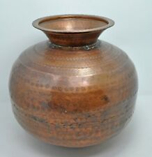 Antique Copper Matka Water Pot Original Old Kitchenware Hand Crafted Nice Shape