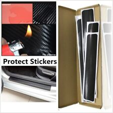 4Pcs 3D Carbon Fiber Protect Sticker Auto Accessories Anti-kick Scratch Car Door