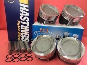 YCP 76mm 040 Vitara Pistons Teflon Coated Low Comp + Rings +  Honda D16 Turbo