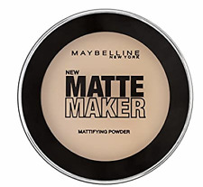 MAYBELLINE MATTE MAKER MATTIFYING FACE POWDER SHADE SUN BEIGE NEW