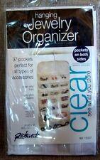 Clear Closet Rod Hanging Jewelry Organizer Storage 37 Pocket Organizer White NEW