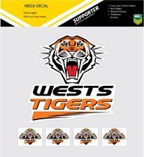 ** NEW ** NRL Wests Tigers iTag Mega & Mini Decal Stickers Set