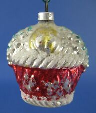 Basket of Fruit Glass Christmas Tree Ornament Vintage