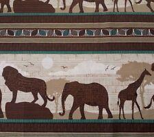 "1 yd 5"" Wisdom Of The Plains Tara Reed Quilting Treasures African Animal Stripe"