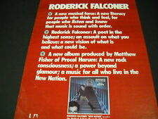 RODERICK FALCONER A New Musical Force... 1976 PROMO DISPLAY AD mint condition