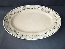antico gran piatto in ceramica di Badonviller, arte popolare francese dish