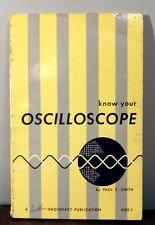 Smith, Paul C. - Know Your Oscilloscope - 1958 - 1st/Softcover, Wraps/Fair/Accep