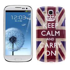 Samsung S3 Siii Galaxy i9300 Batterie Couvercle Protection Étui Bumper Keep Calm
