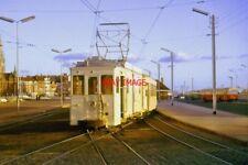 PHOTO  SNCV TRAM AT OOSTENDE AUG1964