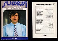 GIANNI MORANDI CANZONIERE SONGSBOOK SUCCESSI MORANDI BMG GRUPPO EDITORIALE 1988