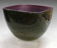 CENEDESE SIGNED MID-CENTURY MODERN ITALIAN MURANO ART GLASS SPIRALI BOWL VASE