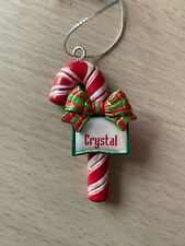 Candy Cane Ornament Crystal Christmas Stocking Stuffer Holiday Gift Teacher Gift