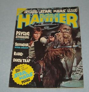 The HOUSE of HAMMER # 16 UK MONSTER MAGAZINE STAR WARS SPECIAL ISSUE PSYCHO
