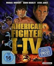 American Fighter Blu-ray Box 1-4 Komplettbox UNCUT - NEU OVP - Teil 1+2+3+4