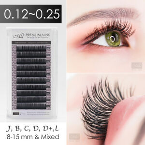 Individual Eyelash Extensions Faux Mink Lashes Semi Permanent J B C D DD L Curl