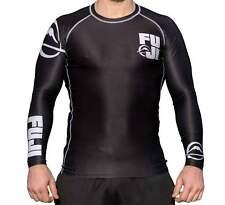 New Big Fuji MMA BJJ Jiu Jitsu LongSleeve Long Sleeve LS Rashguard Rash - Black