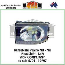 HEADLIGHT MITSUBISHI PAJERO NH NJ NK L/H LEFT PASSENGER SIDE 1991-1997