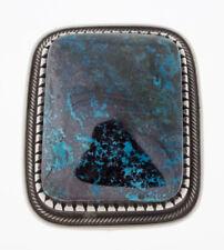 Size 11 Natural Chrysocolla Ring By Navajo Artist Calvin Martinez