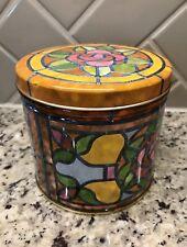 "Round Decorative Metal Tin Container 5"""