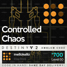 Destiny 2 Controlled Chaos Emblem!! SAME DAY DELIVERY!!