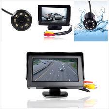 """Car Rear View Backup 8LED Infrared Night Vision Camera &4.3"""" LCD Display Monitor"""