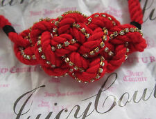 Juicy Couture Bracelet Braided Crystal Knot NEW
