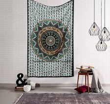 Indian Elephant Mandala Tapestry Bohemian Hippie Bedspread Wall Hanging Throw