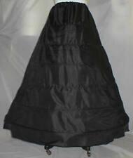 New Black 6 Bone Hoop,Civil War Slip Skirt Costume