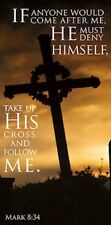 """Take Up His Cross"" Worship Canvas Banners, 6 Foot"