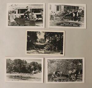 Set of 5 RPPC Rock Springs Ranch Junction City, Kansas, 1930's