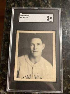 """1939 Play Ball Mel Ott #51 SGC 3 """"VG"""" New York Giants HOF """"CENTERED"""" BEAUTY"""