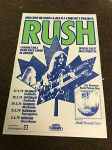"""Rush 1979 Germany Tour Dates Neil Peart Cardstock Concert Poster 12"""" x 18"""""""