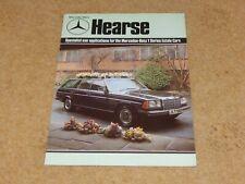*RARE* MERCEDES BENZ 240TD 250T 280TE HEARSE UK Brochure - April 1980