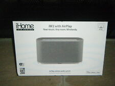 iHOME AIR SERIES WIRELESS BLUETOOTH SPEAKER APPLE IW2 SVC W/ AIRPLAY SILVER HTF!