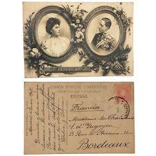 CPA SS MM. Don Alfonso XIII y Dona Victoria Eugenia, Reyes de Espana ROI ESPAGNE