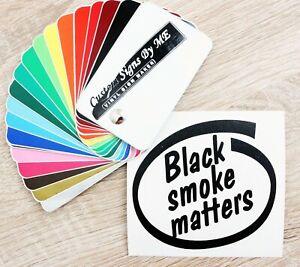 Funny Black Smoke Matters Diesel Car Sticker Vinyl Decal Adhesive Window Bumper