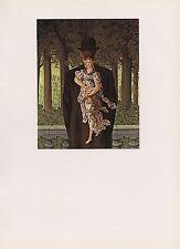 """1972 Vintage MAGRITTE """"READY MADE BOUQUET - TOUT FAIT"""" COLOR Art Lithograph"""