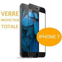 iPhone 7 VERRE TREMPE NOIR Film de protection Intégral Total écran 4.7