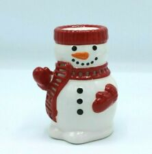 "Bath & Body Works Ceramic Snowman Home Fragrance Oil Warmer 5"" New"