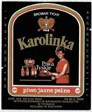POLAND Browar Ksiazecy Tychy Karolinka (1) woman beer label C1637